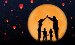 Bóng trăng trắng ngà, có cây đa to...