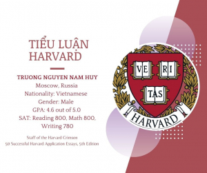 Tiểu luận Harvard - Truong Nguyen Nam Huy